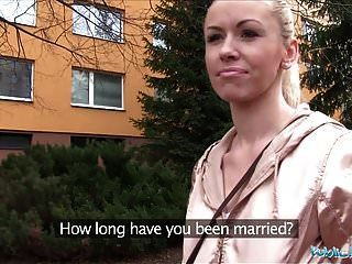 Public Agent Married Blonde Is Unfaithful For Cash