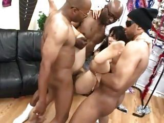 Japanese Wife Big Black Cock Gangbang