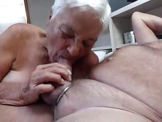 White Hair Granny Blow Me