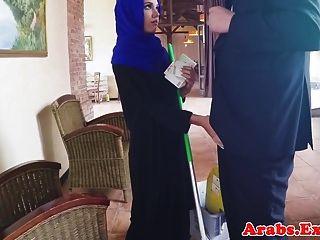 Arabian Muslim Fucked In Hijab Before Facial