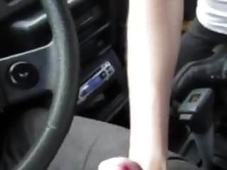 She Sucks His Cock In The Car And Swallows His Cum