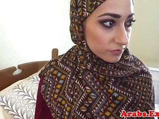 Hijab Muslim Babe Fucked For Cash Money