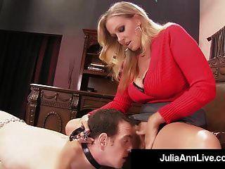 Mommy Dearest Julia Ann Punishes Her Boy Toy If He Gets Hard