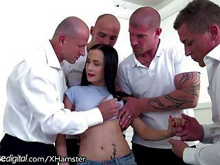 Bratty Daughter Dp Gangbanged By Dad And All His Friends!