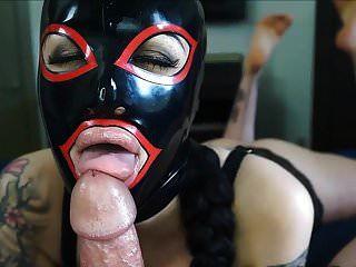 Big Lips Masked Babe Deepthroats Big Cock And Swallows Cum