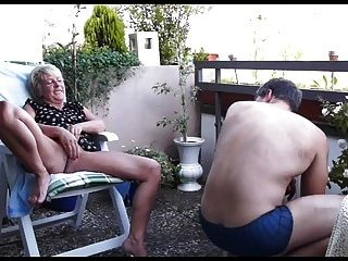 Mature Couple Balcony Fuck