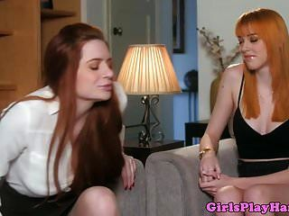 Ginger Lesbian Pussylicked By American Babe