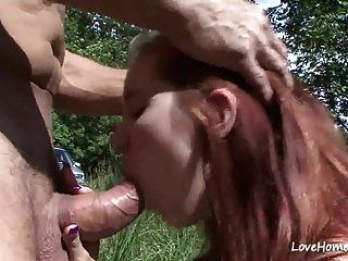 Big Tits Pregnant Chick Is Outside And Riding.mp4