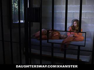 Daughterswap - Two Fathers And Teen Daughters Fuck In Jail C