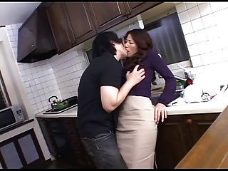 Hot Mommy In Kitchen