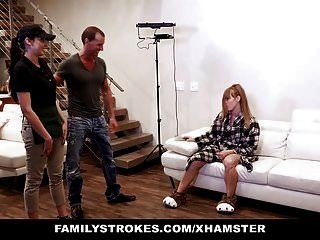 Familystrokes - Teen Barista Model Gets Fucked On Set By Pho