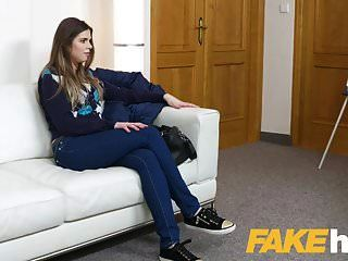 Fake Agent Models Tight Pussy Gets Fucked On Couch