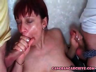 Gangbang Archive 10 Young Guys Fucking Old Tramp