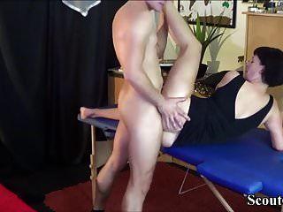German Milf Seduce Massage Teen To Fuck Her Anal