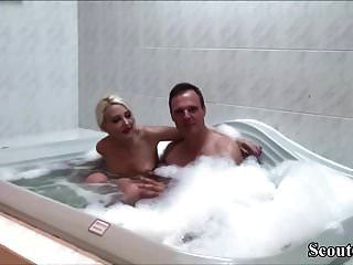 German Bro Caught Petite Step-sister In Bath And Fuck Her