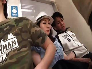 Japanese J Has Tits Molested On Train