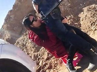A Chinese Couple Is Fucking Outdoors !! ..