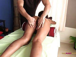 Thai Pussy Spread Open On Massage Table