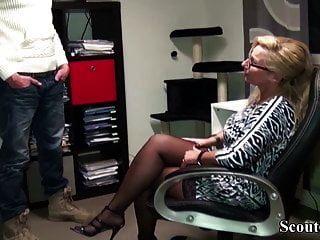 German Milf Boss Fuck Huge Dick Guy In Office