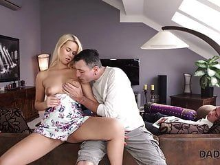 Daddy4k. Excited Dad Tastes Pussy Of Son