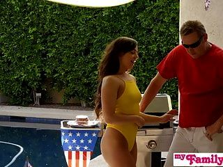 July 4th Threesome With Teen Stepdaughter And Hot Bff! S3:e3