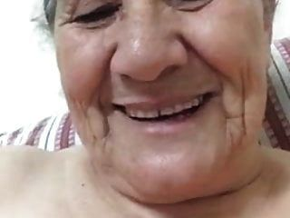 An Old Woman Shows Herself
