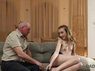 Daddy4k. Skinny Russian Teen Jessi Tastes Old Cock In...