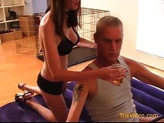 Dom Teen Daughter Abuses Her Daddy