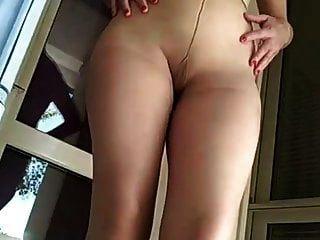Blonde Small Tits Pantyhose Masturbation In Highheels