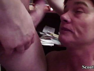 German Granny Seduce Young Boy To Fuck Her Anal