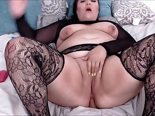 Sexy Big Ass In Fishnet Riding Dildo