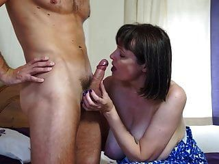 Mature Busty Natural Mom Fucks Strong Boy