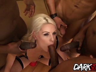 Blanche Uses Her Asshole To Take On A Lot Of Big Black Dicks